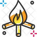 Firewood Campfire Camping Icon