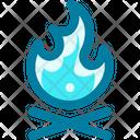 Bonfire Holiday Camping Icon