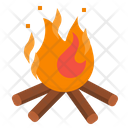 Bonfire Lights Camping Icon