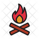 Bonfire Camp Camping Icon