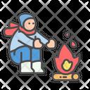 Winter Warm Fire Icon