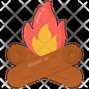 Campfire Bonfire Woodfire Icon