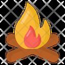 Firewood Campfire Bonfire Icon