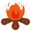 Bonfire Flame Camping Icon