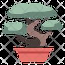 Bonsai Garden Gardening Icon