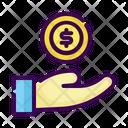 Business Bonus Coin Icon
