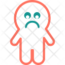 Sad Emoji Ghost Icon