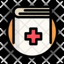 Medical Book Cross Icon