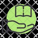 Book Receive Donate Icon