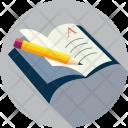 Book Notebook Pencil Icon