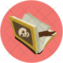 Book Knowledge Black Icon