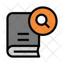 Magnifier Book Glass Icon