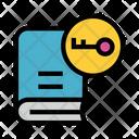 Book Key Lock Icon