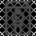 Book Apple Arrows Icon