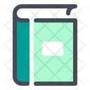 Book Icon in Colored Outline Style