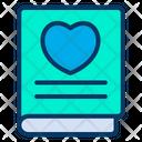 Love Heart Book Icon