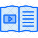 Book Writing Play Icon