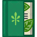 Book Herbarium Leaves Icon
