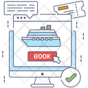 Cruise Booking Online Reservation Cruise Reservation Icon