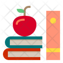 Book And Apple Icon