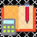 Book And Calculator Icon