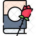 Book And Rose Icon
