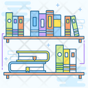 Book Cabinet Book Rack Bookshelf Icon