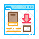 Book Download Folder Icon