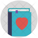 Book Heart Reading Icon