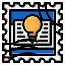 Book Idea Stamp Icon