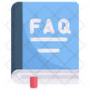 Online Shopping Book Of Faq Question Icon