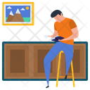 Book Reading Drinking Coffee Hot Beverage Icon