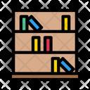 Library Books Shelves Icon