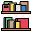 Bookshelves Books Library Icon
