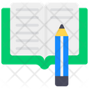 Book Writing Copywriting Composing Icon