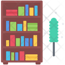 Bookcase Brush Dust Icon