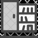 Bookcase Books Cabinet Icon