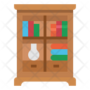 Bookcase Furniture Household Icon