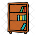 Bookcase Bookshelf Furniture Icon