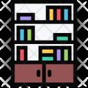 Bookcase Furniture Apartment Icon