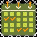 Booking Hotel Calendar Icon