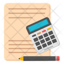 Budget Accounting Arithmetic Calculation Icon