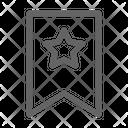 Bookmark Label Star Icon