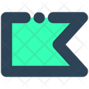 Sign Ribbon Bookmark Icon