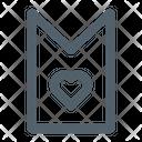 Bookmark Love Heart Icon