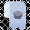 Bookmark Graduation Hat Cap Icon