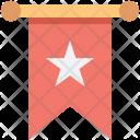 Bookmark Star Ribbon Icon