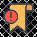 Bookmark Exclamation Error Icon