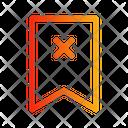 Bookmark Cancel Navigation Direction Icon