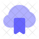 Bookmark Cloud Bookmark Data From Cloud Bookmark Cloud Data Icon